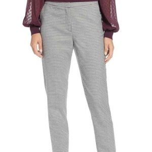 Halogen Nordstrom Plaid Ankle High Rise Pants 12